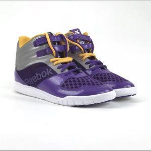 SAMPLE Reebok Womens LA Lakers Purple Hi Tops Sz 7
